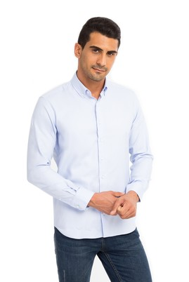 Uzun Kol Oxford Slim Fit Gömlek