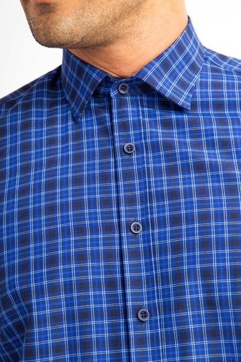 Uzun Kol Slimfit Ekose Gömlek