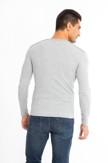 V Yaka Slim Fit Sweatshirt