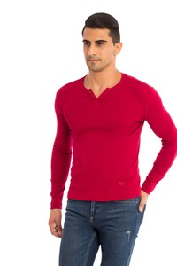 V Yaka Slim Fit Sweatshirt