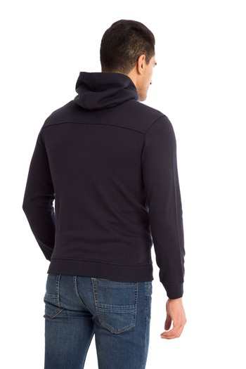 Kapüşonlu Slim Fit Sweat / Mont