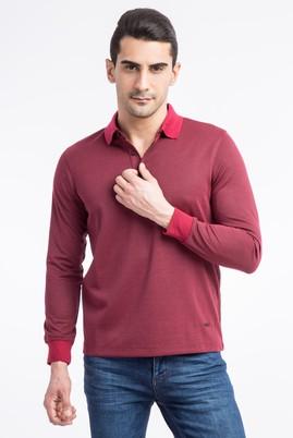 Polo Yaka Tasarım Regular Fit Sweatshirt