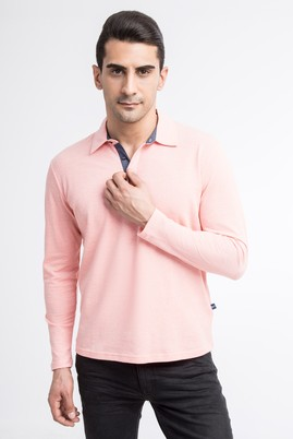Polo Yaka Düz Regular Fit Sweatshirt