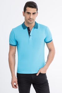 Polo Yaka Düz Regular Fit T-Shirt