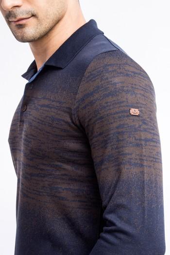 Erkek Giyim - Polo Yaka Slim Fit Sweatshirt