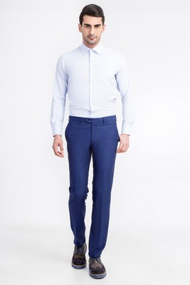 Slim Fit Desenli Pantolon