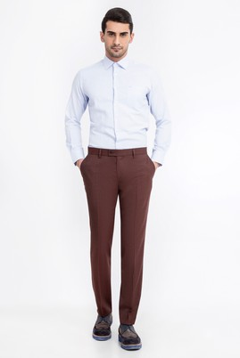 Süper Slim Fit Flanel Pantolon