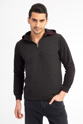BATO YAKA KAPÜŞONLU REGULAR FIT SWEATSHIRT