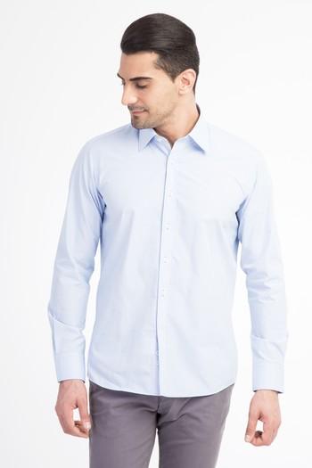 Uzun Kol Desenli Slimfit Gömlek