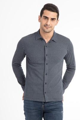Polo Yaka Slimfit Tasarım Sweatshirt