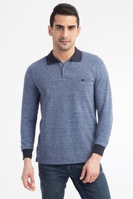 Erkek Giyim - Polo Yaka Düğmeli Sweatshirt