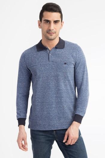 Polo Yaka Düğmeli Sweatshirt