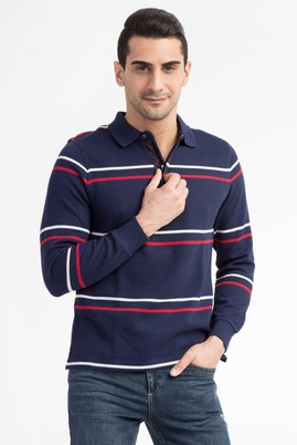 Polo Yaka Regular Fit Sweatshirt