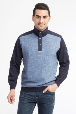 Bato Yaka Regular Fit Düğmeli Sweatshirt