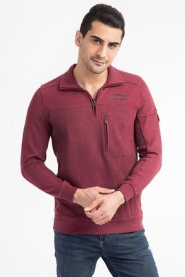 Polo Yaka Slim Fit Fermuarlı Sweatshirt