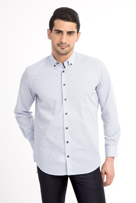 Uzun Kol Desenli Gömlek