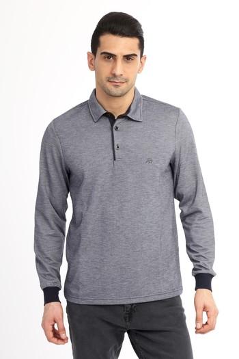 Polo Yaka Regular Fit Sweatshirt