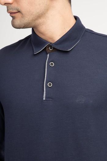 Erkek Giyim - Polo Yaka Regular Fit Sweatshirt