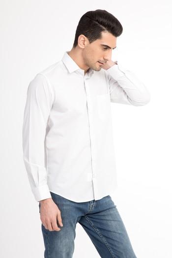 Uzun Kol Ekose Kolay Ütülenir Gömlek