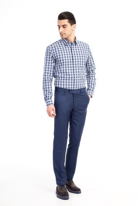 Slim Fit Ekose Pantolon