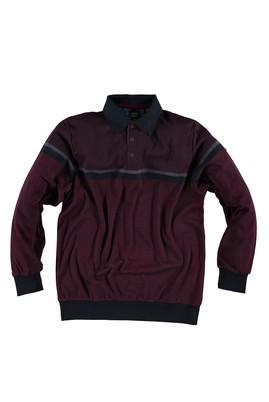 King Size Polo Yaka Regular Fit Sweatshirt