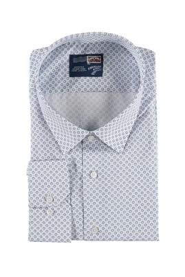 Büyük Beden Uzun Kol Desenli Gömlek