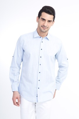 Uzun Kol Tasarım Spor Gömlek
