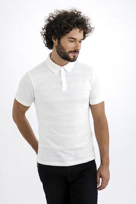 Polo Yaka Tasarım Örme Tişört