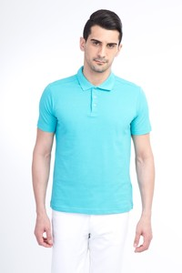 Polo Yaka Düz Slim Fit Tişört