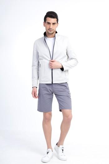 Erkek Giyim - Mevsimlik Dik Yaka Bonded Mont