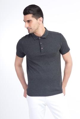 Yarım İtalyan Yaka Düz Slimfit Tişört