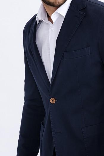 Slim Fit Düz Ceket