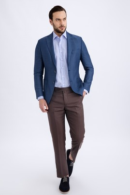 Slim Fit Düz Pantolon