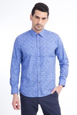 Uzun Kol Tasarım Slim Fit Gömlek