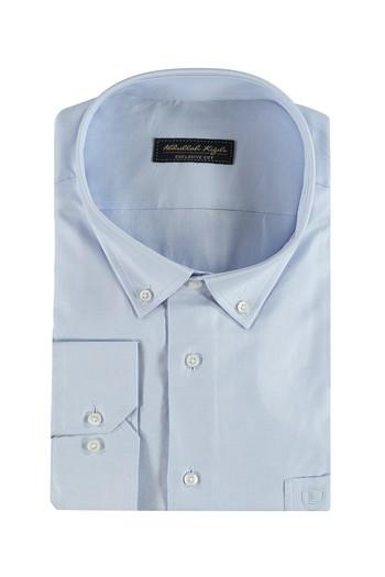 Erkek Giyim - King Size Uzun Kol Oxford Gömlek