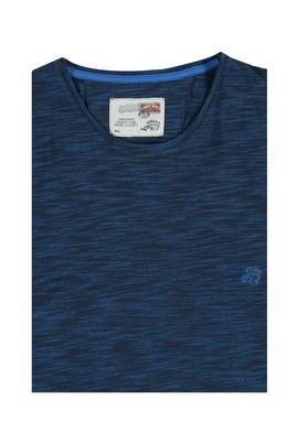 Erkek Giyim - King Size Bisiklet Yaka Desenli Tişört