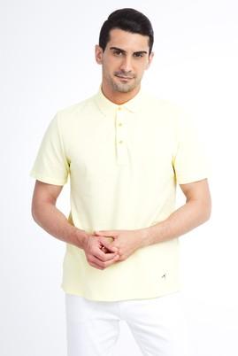 Erkek Giyim - Sarı XL XL Regular Fit Polo Yaka Tişört