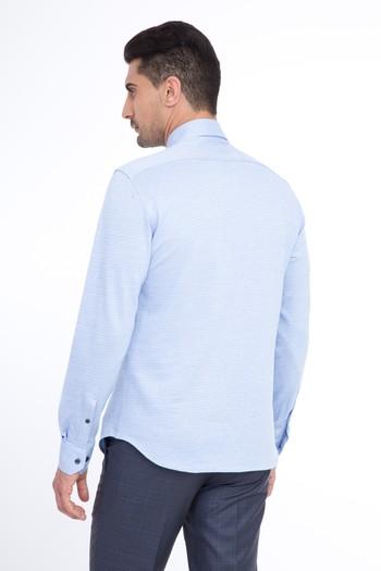 Uzun Kol Örme Slim Fit Gömlek