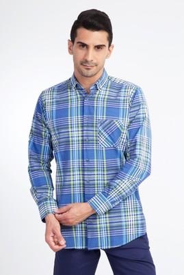 Uzun Kol Ekose Tasarım Gömlek
