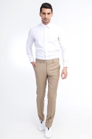 Slim Fit Düz Klasik Pantolon