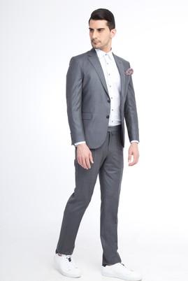 Slim Fit Ekose Takım Elbise