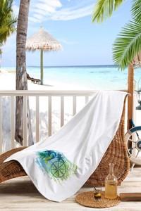 Erkek Giyim - Baskılı Plaj Havlusu