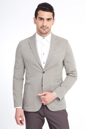 Erkek Giyim - Baskılı Spor Ceket