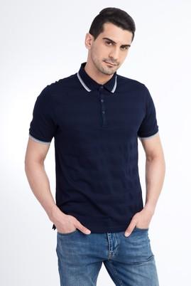Polo Yaka Tasarım Slim Fit Tişört