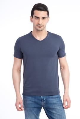 V Yaka Slimfit Tişört