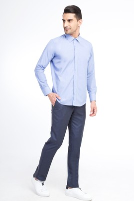 Slim Fit Ekose Klasik Pantolon