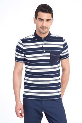 Polo Yaka Çizgili Slim Fit Tişört