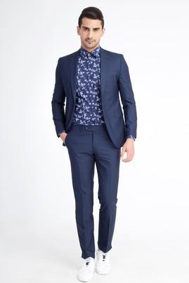 Slimfit Ekose Takım Elbise