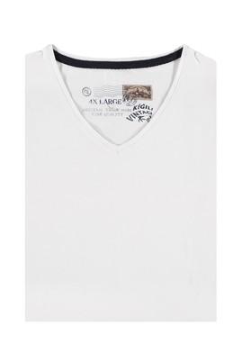 King Size V Yaka Düz Tişört