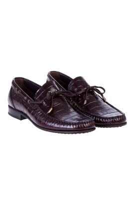 Erkek Giyim - Bağcıksız Deri Ayakkabı
